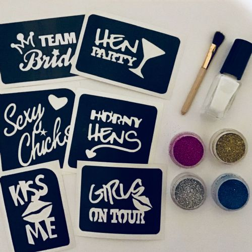 HEN PARTY GLITTER TATTOO KIT